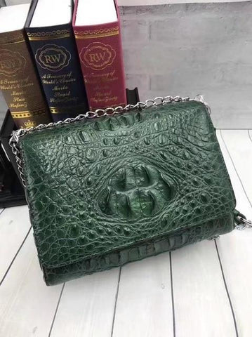 crocodile evening purse