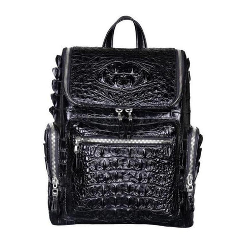 Crocodile Skin Leather Backpack