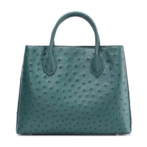 Ostrich Skin Leather Tote Bag