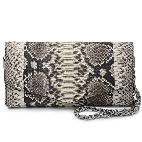 Python Skin Leather Purse
