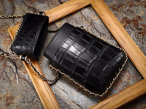 women's crocodile purse bag