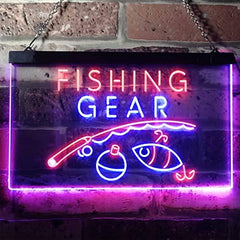 Bait Shop Fishing Gear LED Neon Light Sign