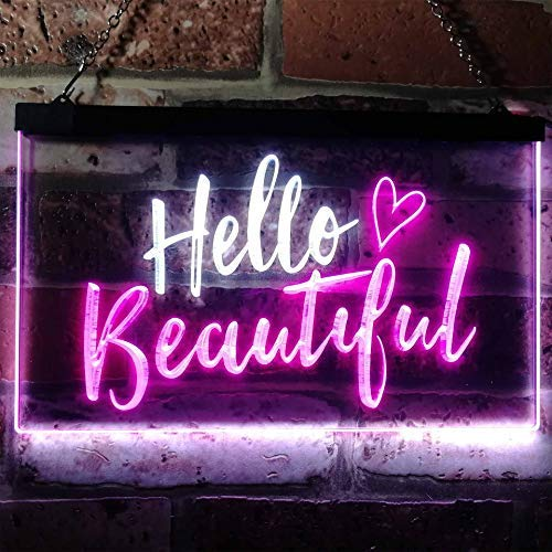 Hello Beautiful LED Neon Light Sign