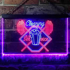 Cleaning Service Shop LED Neon Light Sign