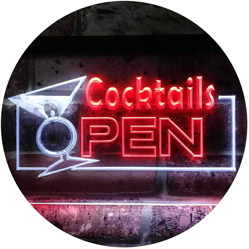 Bar Cocktails Open LED Neon Light Sign - Way Up Gifts