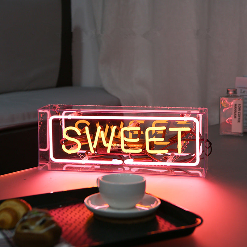 8 Styles Neon Sign in Acrylic Box - Way Up Gifts
