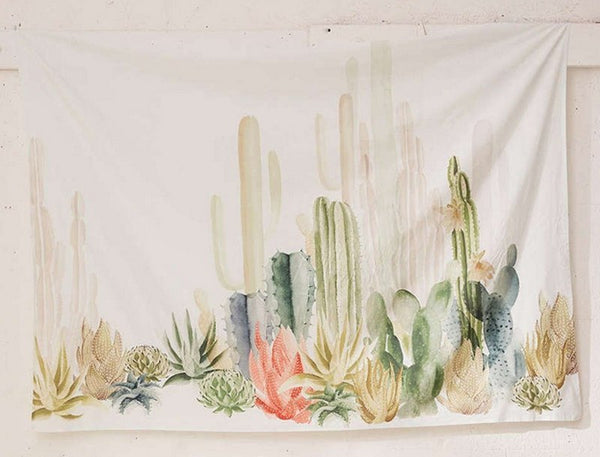Wall Hanging Cactus Tapestry Art Decor Blanket (HD Fabric) - Way Up Gifts
