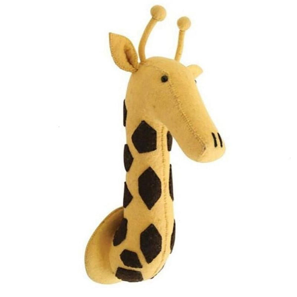 Wall Hanging Felt Animal Head Giraffe Giant Plush Toy - Way Up Gifts