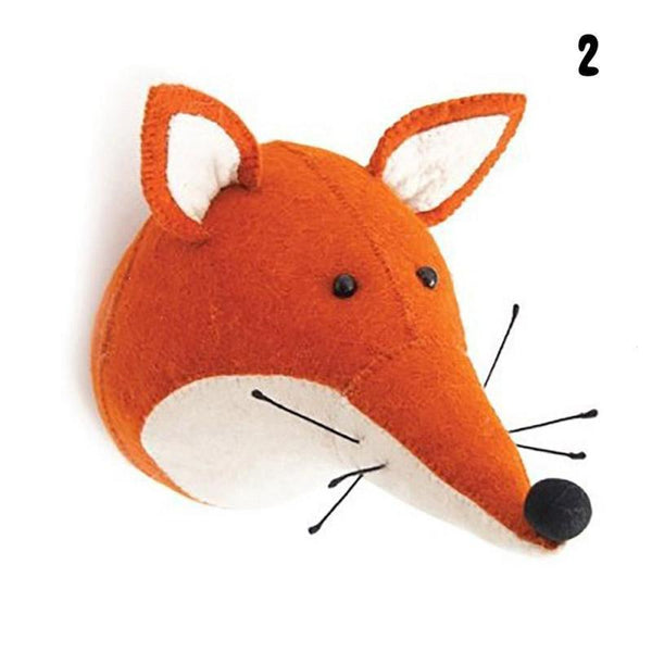 Wall Hanging Felt Animal Head Fox Giant Plush Toy - Way Up Gifts