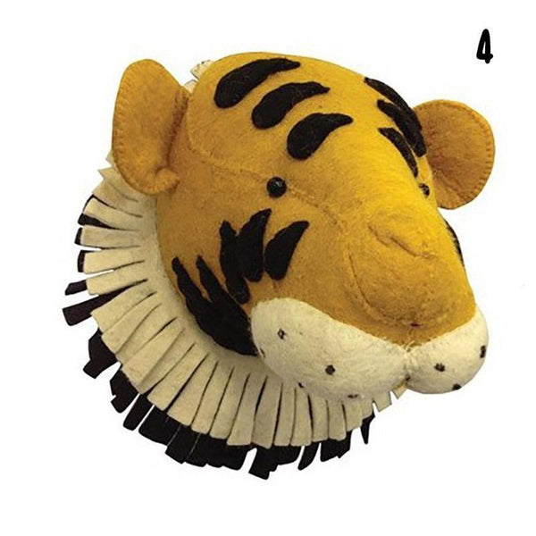 Wall Hanging Felt Animal Head Tiger Giant Plush Toy - Way Up Gifts