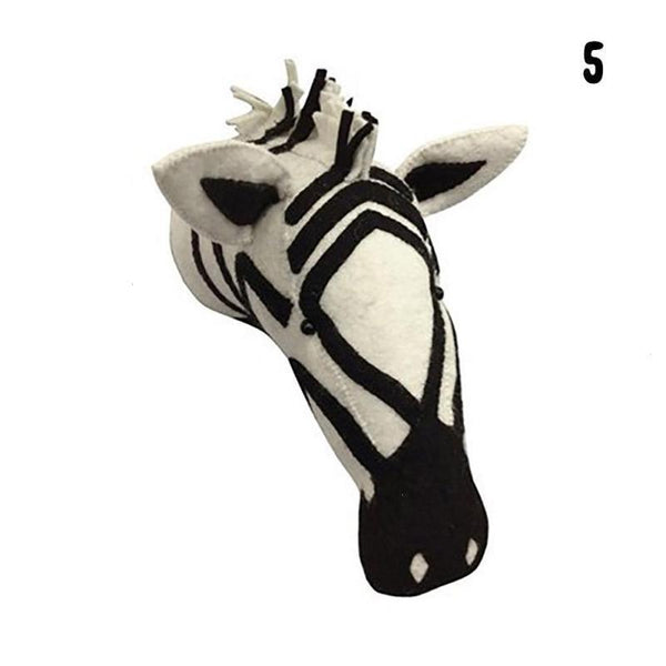 Wall Hanging Felt Animal Head Zebra Giant Plush Toy - Way Up Gifts