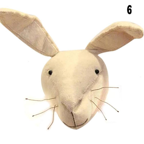 Wall Hanging Felt Animal Head Rabbit Giant Plush Toy - Way Up Gifts
