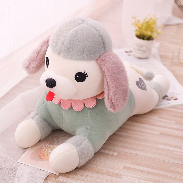 Big Puppy Dog Stuffed Animal Plush Toy 16in / Green Giant Plush Toy - Way Up Gifts