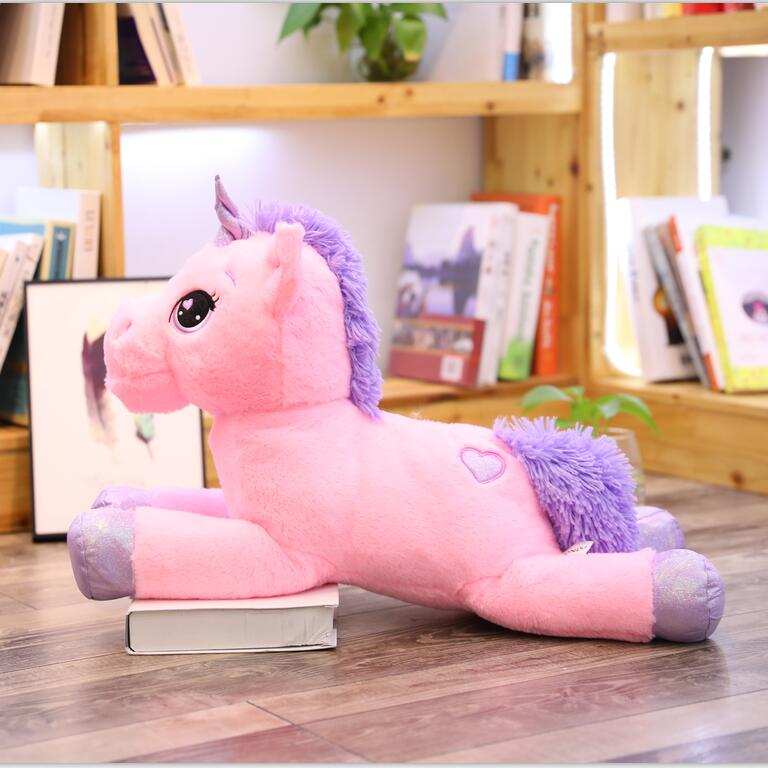 Giant Stuffed Animal Unicorn Plush Toy w/ Hearts - Way Up Gifts