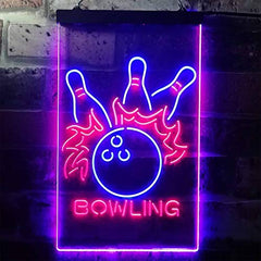 Bowling LED Neon Light Sign
