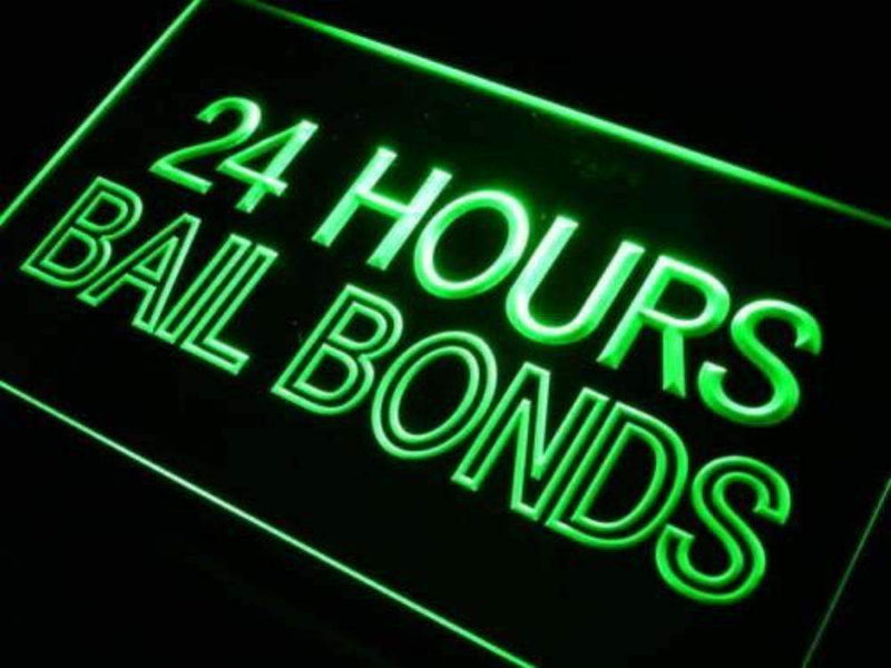 24 Hours Bail Bonds LED Neon Light Sign - Way Up Gifts