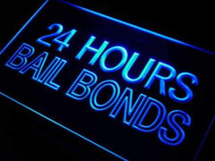 24 Hours Bail Bonds LED Neon Light Sign