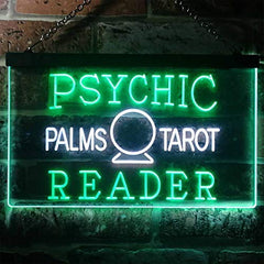 Psychic Palms Tarot Reader LED Neon Light Sign