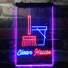Clean House Helper Maid Service LED Neon Light Sign