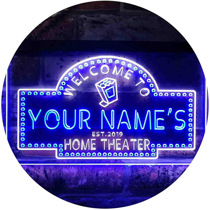 Personalized Movie Room Home Theater LED Neon Light Sign - Way Up Gifts
