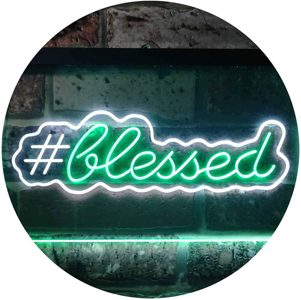Hashtag Blessed LED Neon Light Sign - Way Up Gifts