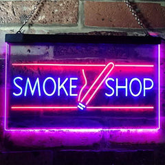 Tobacco Cigarettes Cigars Smoke Shop LED Neon Light Sign