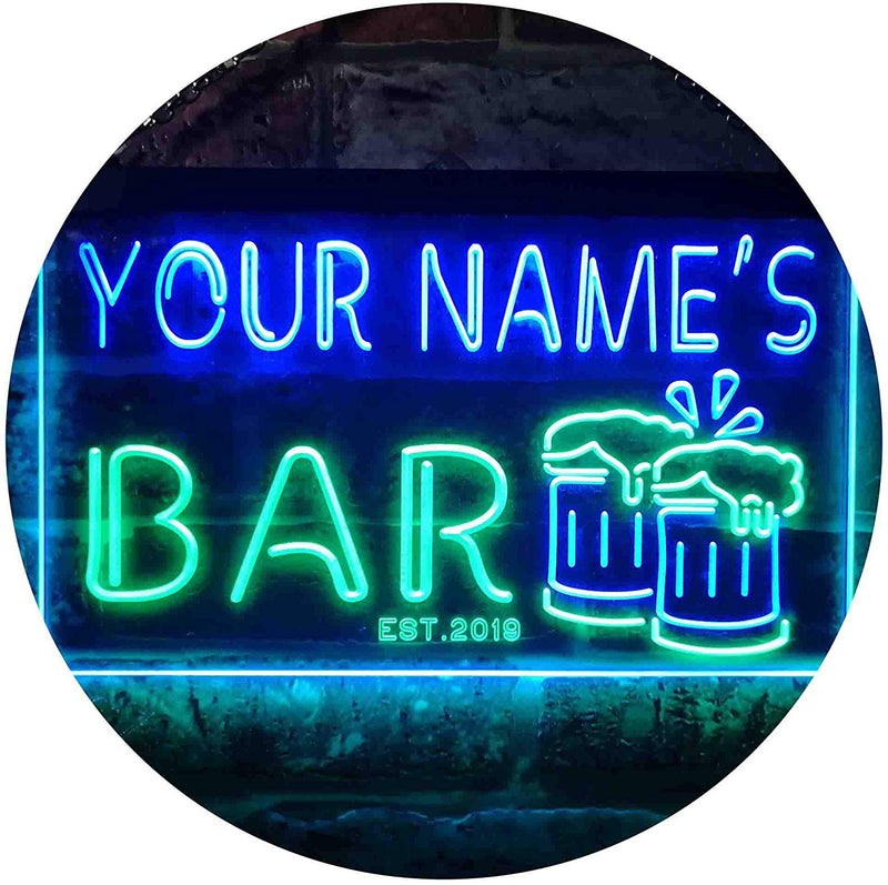 Personalized Beer Mugs Bar LED Neon Light Sign - Way Up Gifts