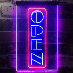 Vertical Open Sign LED Neon Light Sign