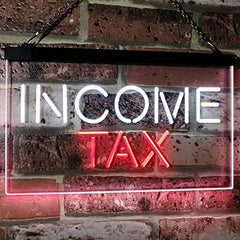 Income Tax Services LED Neon Light Sign