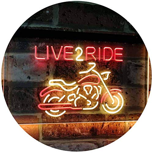 Motorcycle Live to Ride LED Neon Light Sign - Way Up Gifts