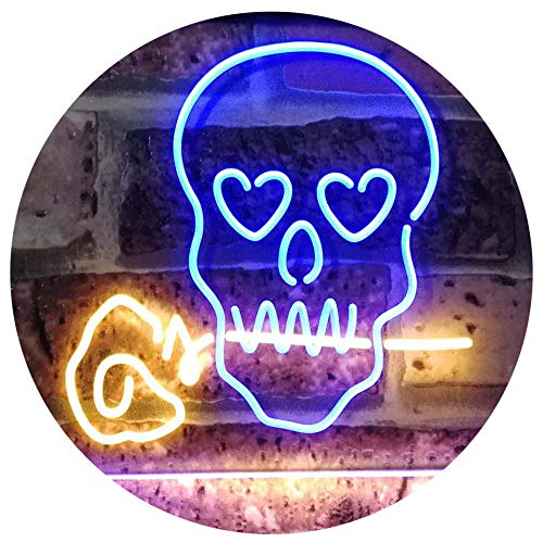 Skull with Rose LED Neon Light Sign - Way Up Gifts