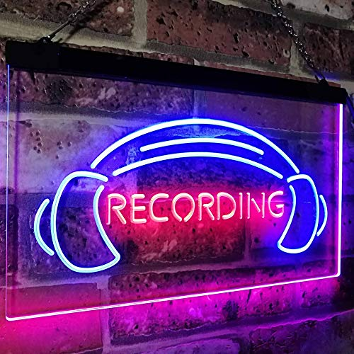 Headphones Recording LED Neon Light Sign - Way Up Gifts