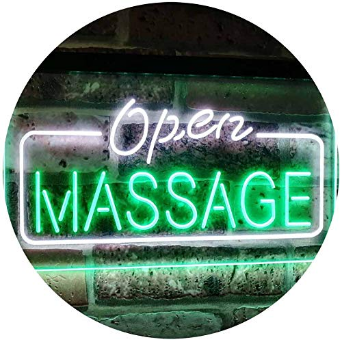 Open Massage LED Neon Light Sign - Way Up Gifts