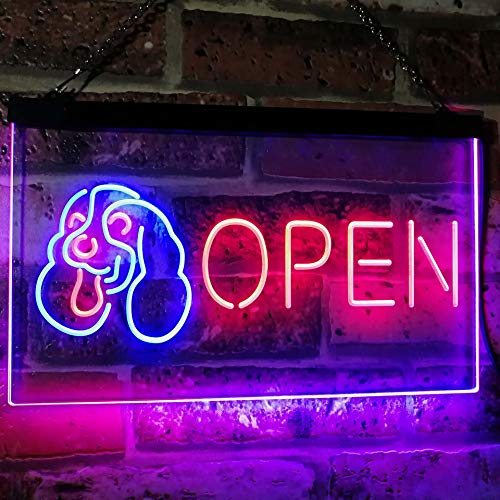 Pet Shop Dog Grooming Open LED Neon Light Sign - Way Up Gifts