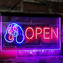 Pet Shop Dog Grooming Open LED Neon Light Sign