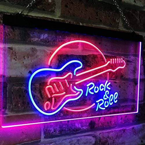 Guitar Rock & Roll LED Neon Light Sign - Way Up Gifts