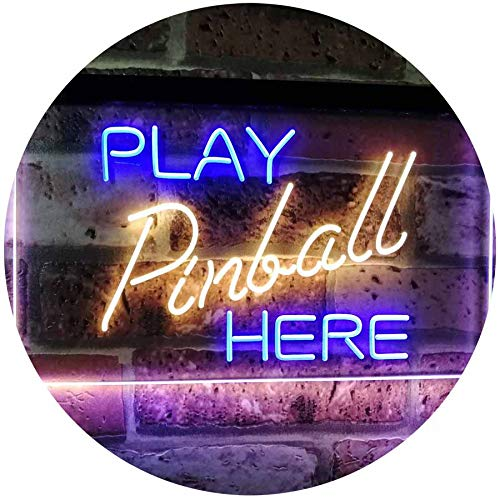 Arcade Game Room Play Pinball Here LED Neon Light Sign - Way Up Gifts