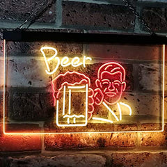 Classic Man Cave Beer LED Neon Light Sign