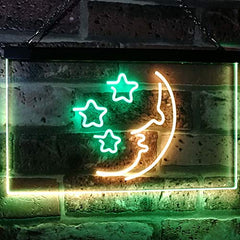Moon & Stars Nightlight LED Neon Light Sign