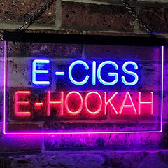 Vape Shop E-Cigs E-Hookah LED Neon Light Sign