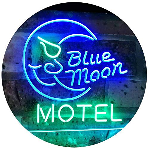 Blue Moon Motel LED Neon Light Sign - Way Up Gifts