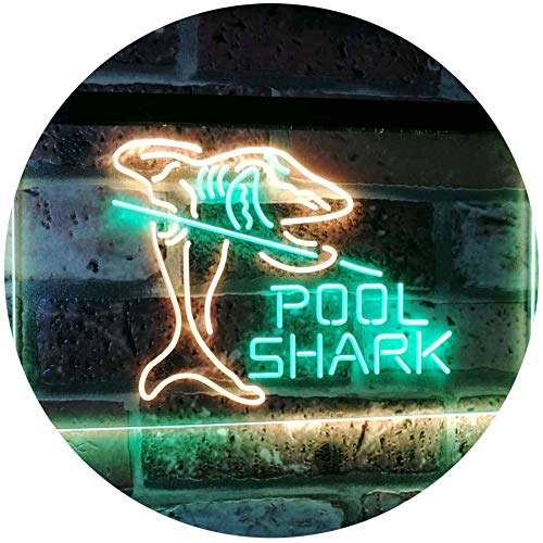 Billiards Pool Shark LED Neon Light Sign - Way Up Gifts