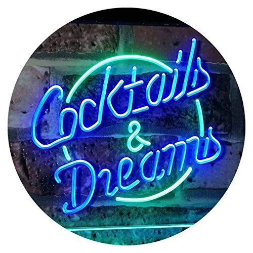 Cocktails & Dreams LED Neon Light Sign - Way Up Gifts