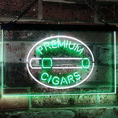 Premium Cigars LED Neon Light Sign