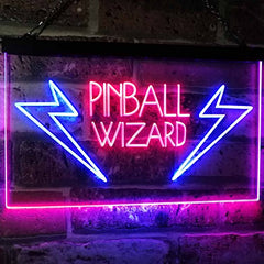 Arcade Game Room Pinball Wizard LED Neon Light Sign