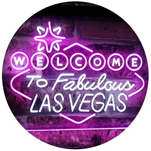 Welcome to Fabulous Las Vegas LED Neon Light Sign - Way Up Gifts