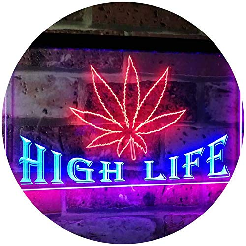 Marijuana Weed Leaf High Life LED Neon Light Sign - Way Up Gifts