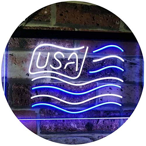 USA Flag LED Neon Light Sign - Way Up Gifts