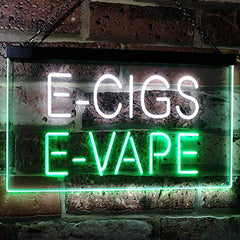 Vape Shop Vaporizers E-Cigs E-Vape LED Neon Light Sign