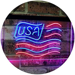 USA Flag LED Neon Light Sign